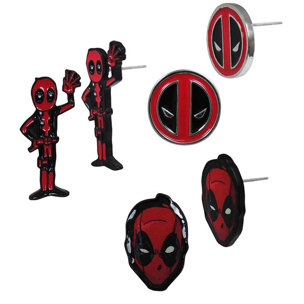 Deadpool Earrings 3-Pack Set