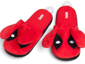 Deadpool Fuzzy Bunny Slippers