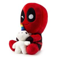 Deadpool Holding Unicorn Plush