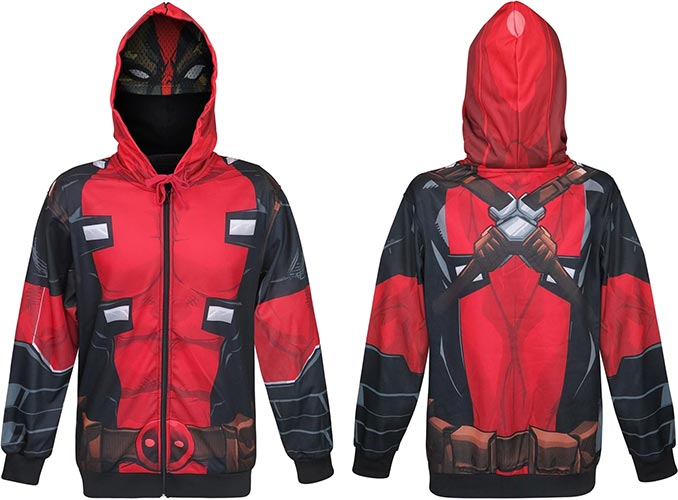 Deadpool Sublimated Hoodie with Mask
