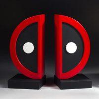 Deadpool Logo Bookends Set