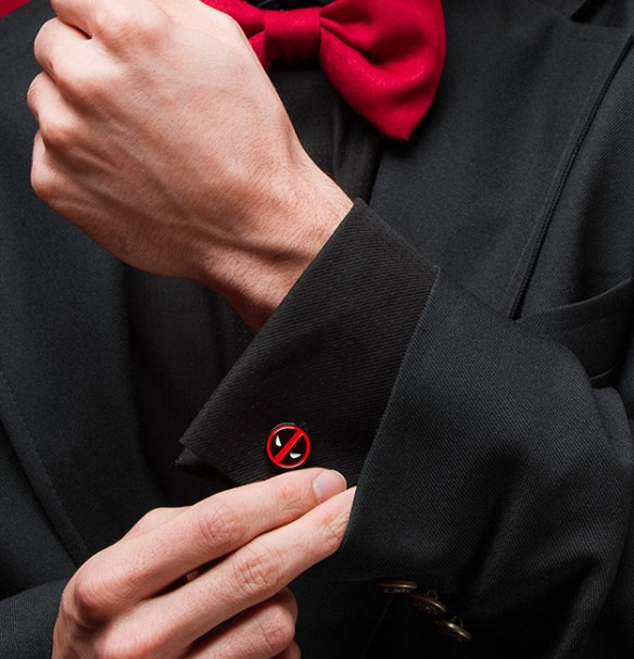 Deadpool Logo Cufflinks