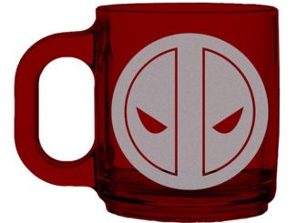 Deadpool Logo Etched Glass Mug
