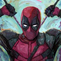 Deadpool Merc with a Mouth Art Print