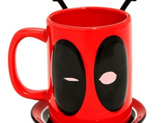 Deadpool Mug with Spoons and Coaster