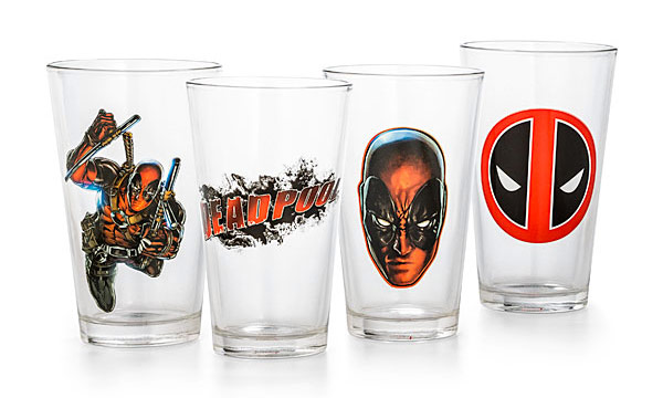 Deadpool Pint Glasses