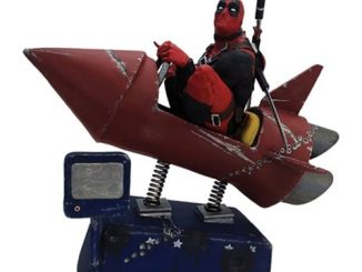 Deadpool Rocket Ride Premium Motion Statue