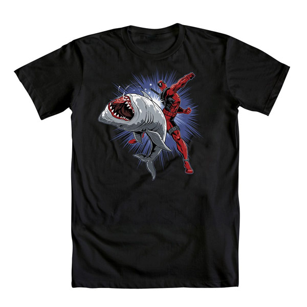 Deadpool Shark Punch TShirt