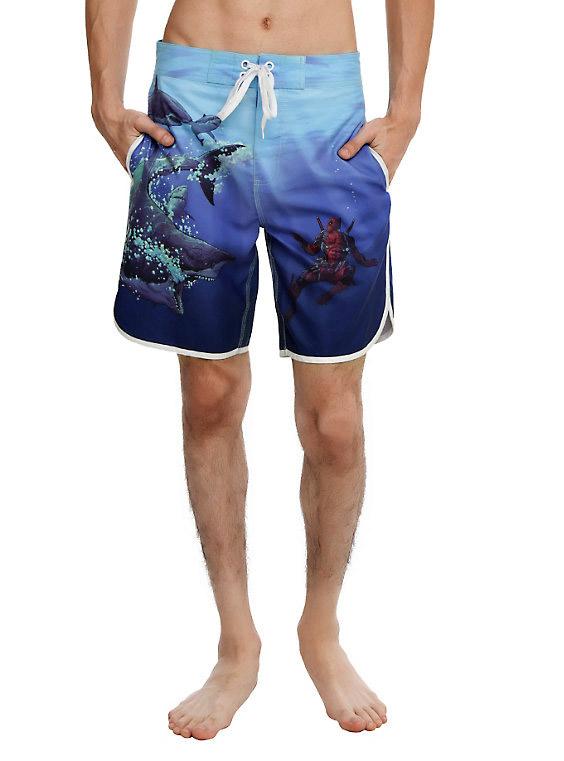 Deadpool Shark Swim Trunks