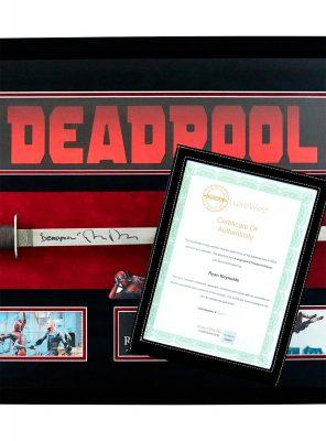 Deadpool Signed Ryan Reynolds Katana