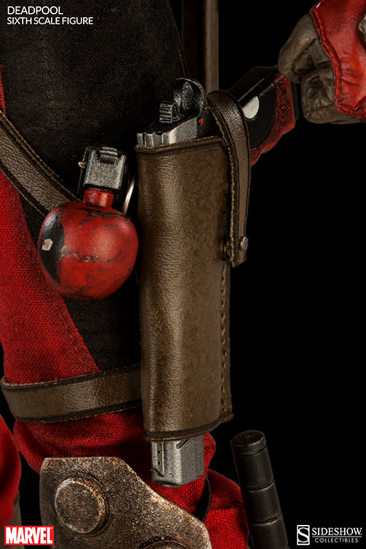 Deadpool Sixth Scale Figure Holster and Gun