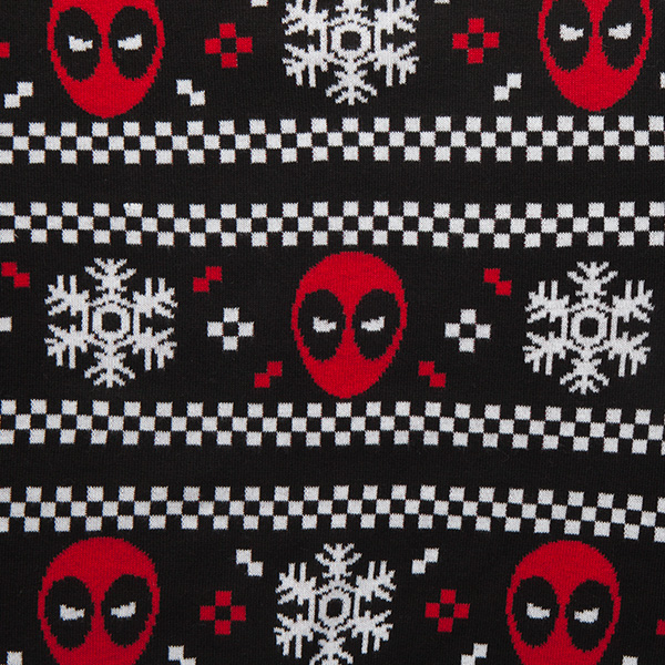 Deadpool & Snowflakes Holiday Sweater