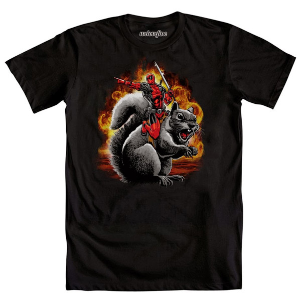 Deadpool Squirrel Wrangle T-Shirt