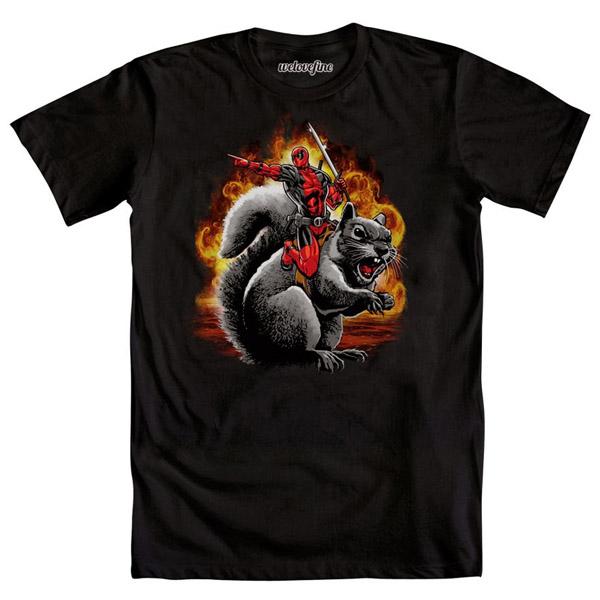 Deadpool Squirrel Wrangle T-Shirt
