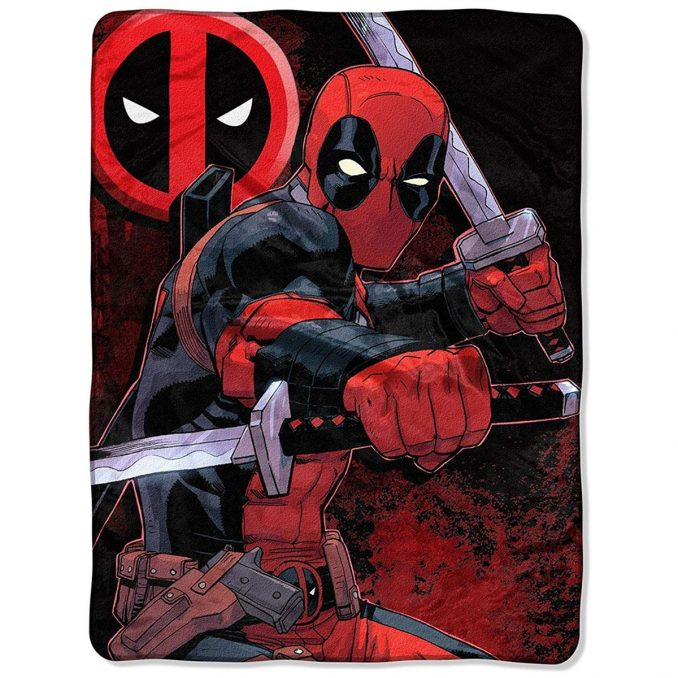 Deadpool Swords Tapestry Throw Blanket
