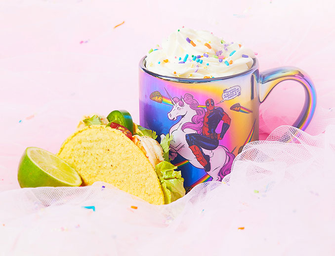 Deadpool Taco Unicorn Mug