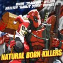 Deadpool and Harley Quinn Natural Born Killers Blu-ray Art Print
