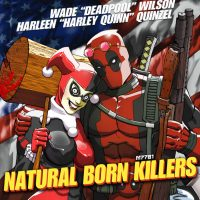 Deadpool and Harley Quinn Natural Born Killers Blu-ray Art Print