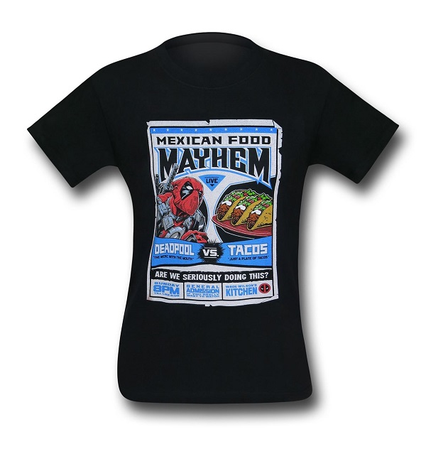 Deadpool vs Tacos Mens T-Shirt