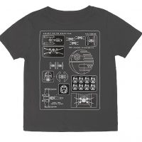 Death Star Pictogram Kids Tee