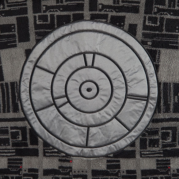 Death Star Repeat Pattern Fleece Robe with Hood