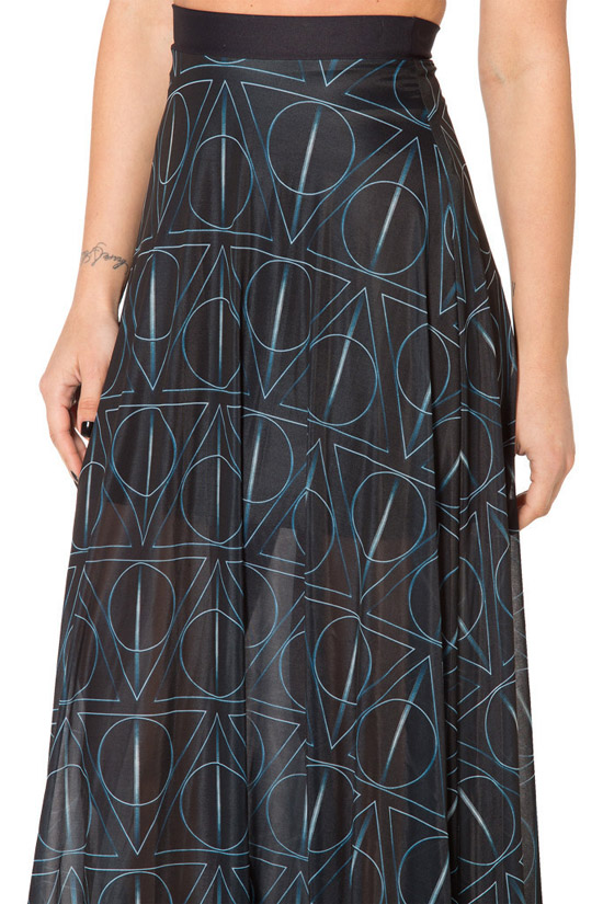 Deathly Hallows Sheer Maxi Skirt