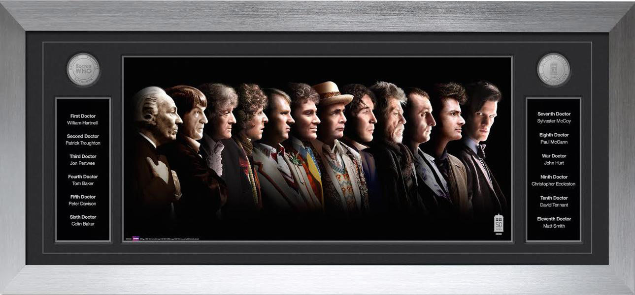 Prints By Deluxe: Doctor Who 12 Doctors Deluxe Framed Print