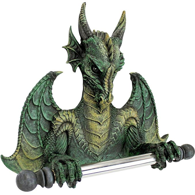 Design Toscano Bath Tissue Tyrant Commode Dragon
