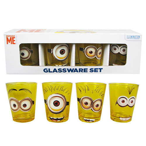 Despicable Me Minions Shot Glass 4-Pack