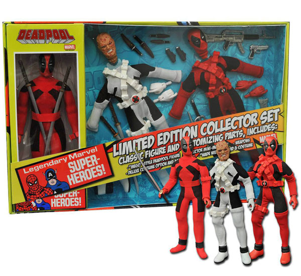Diamond Select Deadpool Limited Edition 8-Inch Retro Action Figure Set