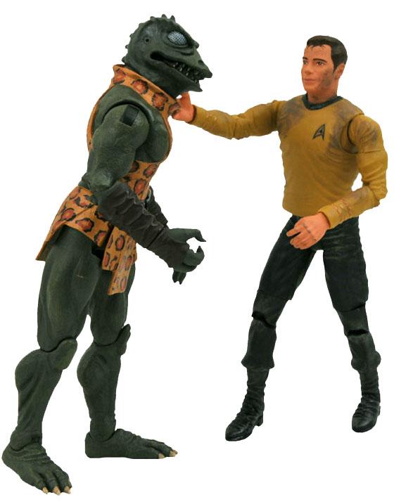 Diamond Select Gorn vs James Kirk Action Figures
