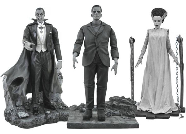 Diamond Select Universal Monsters Black-and-White Action Figure Box Set