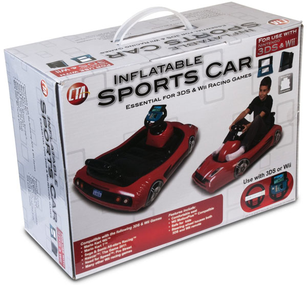Digital Inflatable Sports Kart for 3DS and Wii with Pump
