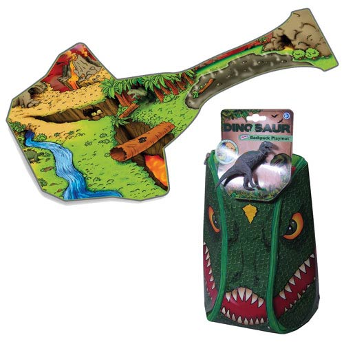 Dinosaur ZipBin Bring Along Dark Green Backpack