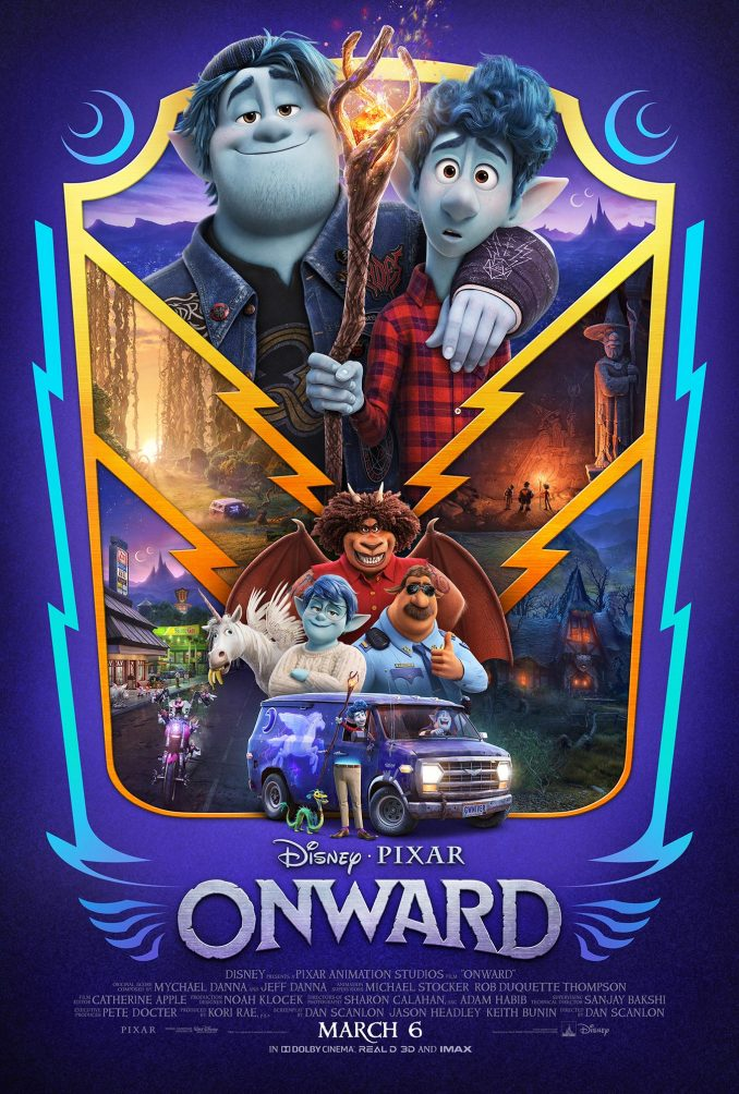 Disney Pixar Onward Movie Poster