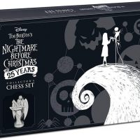 Disney Tim Burton Nightmare Before Christmas 25th Anniversary Chess Set