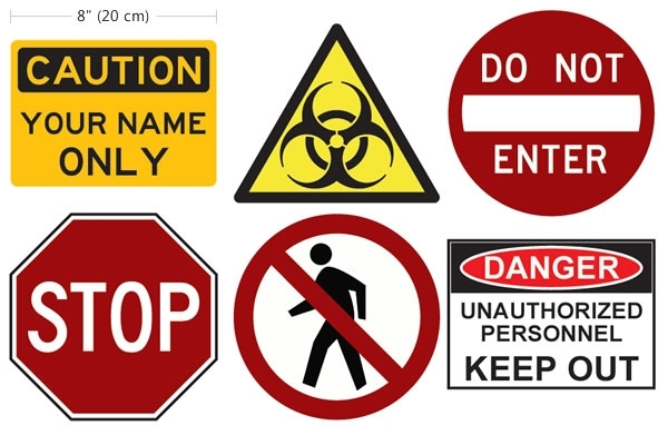 Do Not Enter - Personalizable Wall Decals