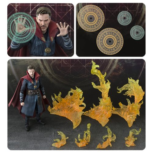 Doctor Strange & Burning Flame Set S.H. Figuarts Action Figure