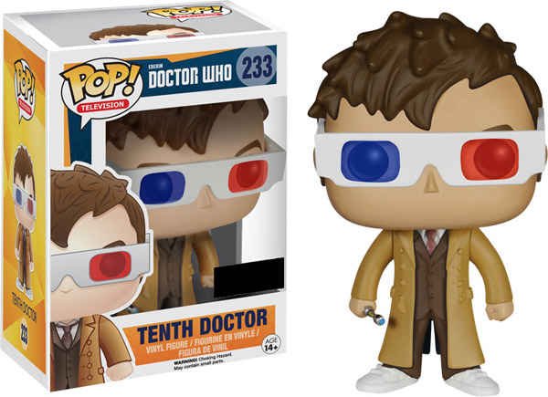 Doctor Who 10th Doctor 3D Glasses Pop Vinyl Figure
