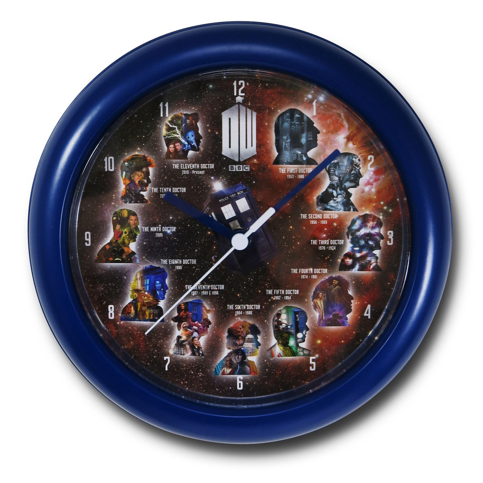 doctor who 11 doctors wall clock. Black Bedroom Furniture Sets. Home Design Ideas