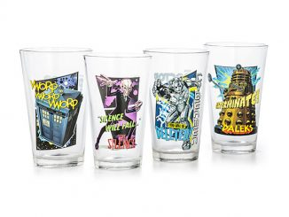 Doctor Who 16 oz Set of 4 Pint Glass Set