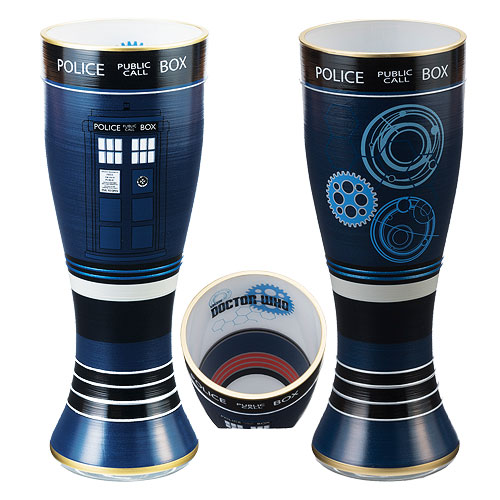 Doctor Who 20 oz Hand-Painted Glass