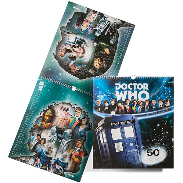 Doctor Who 2013 50th Anniversary Calendar