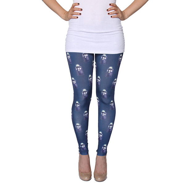 Doctor Who 3D TARDIS Pattern Leggings