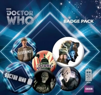 Doctor Who 50th Anniversary 11th Doctor Badge Pack