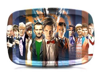 Doctor Who 50th Anniversary Doctor Art Tea Serving Tray