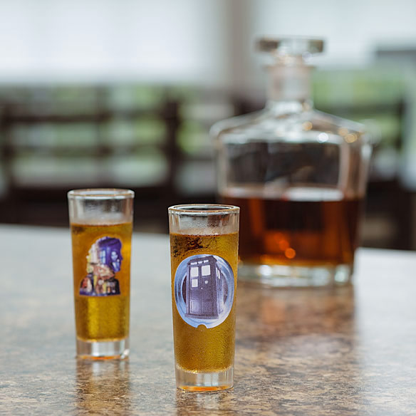 Doctor Who 50th Anniversary Shot Glasses