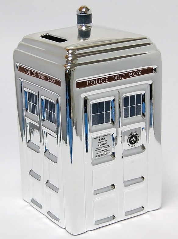Doctor Who 50th Anniversary Silver Money Box