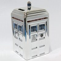 Doctor Who 50th Anniversary Silver TARDIS Money Box