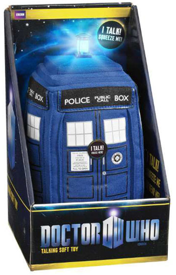 Doctor Who 9 Inch Plush Noise Making TARDIS